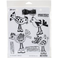 "Dyan Reaveley's Dylusions Cling Stamp Collections 8.5""X7""-Put A Bird On It"