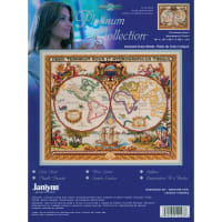 "Janlynn/Platinum Collection Counted Cross Stitch 18""X15""-Olde World Map (14 Count)"