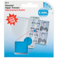 Carl Personal Paper Trimmer Replacement Blades 4/Pkg-Straight