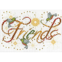 """Design Works Counted Cross Stitch Kit 5""""X7""""-Friends Mini (14 Count)"""