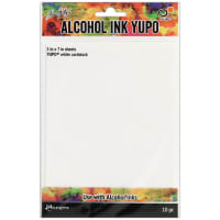 "Tim Holtz Alcohol Ink White Yupo Paper 10 Sheets-5""X7"""