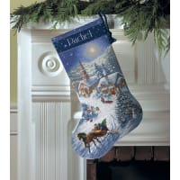 """Dimensions GOld Collection Counted Cross Stitch Kit 16"""" Long-Sleigh Ride (16 Count)"""