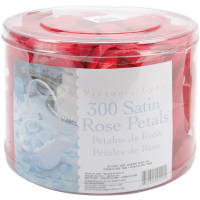 Victoria Lynn Satin Rose Petals 300/Pkg-Red