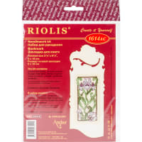 """RIOLIS Counted Cross Stitch Kit 2.25""""X6.25""""-Bookmark-Blooming Iris (18 Count)"""