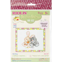 "RIOLIS Counted Cross Stitch Kit 6.25""X5""-Peace, Love & Carrot (14 Count)"