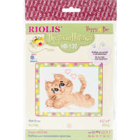 "RIOLIS Counted Cross Stitch Kit 6.25""X5""-Pussycat (10 Count)"