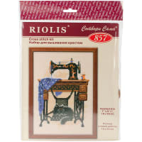 "RIOLIS Counted Cross Stitch Kit 7""X9.5""-Cat With Sewing Machine (15 Count)"