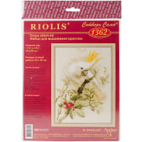 "RIOLIS Counted Cross Stitch Kit 11.75""X15.75""-White Cockatoo (14 Count)"