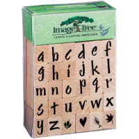 Image Tree Handle Rubber Stamp Set-Susy Ratto Brush Letter Alphabet/Lower