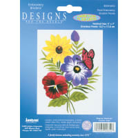 """Janlynn Embroidery Kit 5""""X7""""-Floral-Stitched In Floss"""