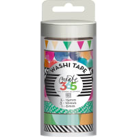 Happy Planner Washi Tape 7/Pkg-Watercolor