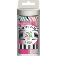 Happy Planner Washi Tape 7/Pkg-Peony Floral