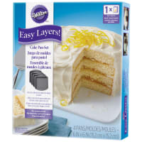 "Easy Layer Cake Pans 4/Pkg-Square 6""X6"""