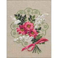 "RIOLIS Counted Cross Stitch Kit 7""X9""-Bouquet Of Love (14 Count)"