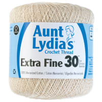 Aunt Lydia's Extra Fine Crochet Thread Size 30-Natural