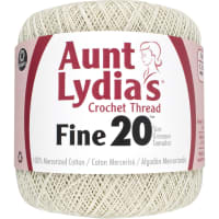 Aunt Lydia's Fine Crochet Thread Size 20-Natural
