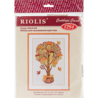 """RIOLIS Counted Cross Stitch Kit 8.25""""X11.75""""-Tree Of Money (14 Count)"""