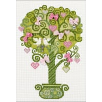 """RIOLIS Counted Cross Stitch Kit 8.25""""X11.75""""-Tree Of Happiness (14 Count)"""