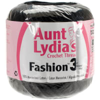 Aunt Lydia's Fashion Crochet Thread Size 3-Black