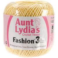 Aunt Lydia's Fashion Crochet Thread Size 3-Maize