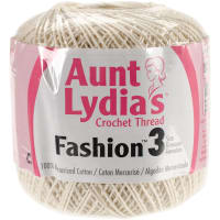 Aunt Lydia's Fashion Crochet Thread Size 3-Bridal White