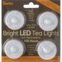 Battery Operated LED Tea Lights 4/Pkg-White