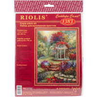 "RIOLIS Counted Cross Stitch Kit 11.75""X15.75""-Flower Arbor (14 Count)"