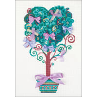 """RIOLIS Counted Cross Stitch Kit 8.25""""X11.75""""-Tree Of Desire (14 Count)"""