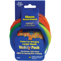 Pony Bead Lacing Variety Pack 60'-Neon Colors