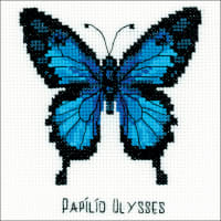 """RIOLIS Counted Cross Stitch Kit 5""""X5""""-Ulysses Butterfly (14 Count)"""