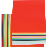 """Fold 'Ems Solid Origami Papers 6.75"""" 100/Pkg-20 Colors/5 Each"""