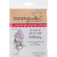 Stamping Bella Cling Stamps-Edna With A Cupcake On Top