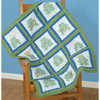"""Jack Dempsey Themed Stamped White Quilt Blocks 9""""X9"""" 12/Pkg-Frogs"""