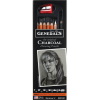 Charcoal Pencil Set 6/Pkg-Assorted Degrees