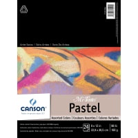 """Canson Mi-Teintes Pastels Paper Pad 9""""X12""""-Assorted Colors 24 Sheets"""