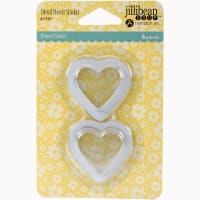 Jillibean Soup PVC Card Shakers 6/Pkg-Small Hearts