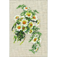 """RIOLIS Counted Cross Stitch Kit 8.25""""X11.75""""-Bouquet Of Camomiles (15 Count)"""