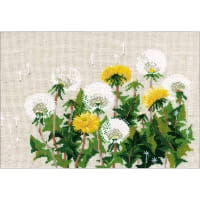 """RIOLIS Counted Cross Stitch Kit 11.75""""X8.25""""-Dandelions (15 Count)"""