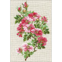 """RIOLIS Counted Cross Stitch Kit 8.25""""X11.75""""-May Wild Rose (15 Count)"""