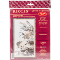 "RIOLIS Counted Cross Stitch Kit 10.25""X19""-Herons (14 Count)"