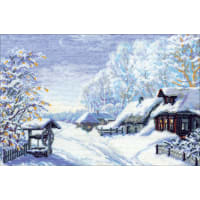 "RIOLIS Counted Cross Stitch Kit 15""X10.25""-Russian Winter (15 Count)"