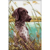 "RIOLIS Counted Cross Stitch Kit 7""X10.75""-Hunting (14 Count)"