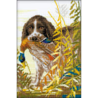 "RIOLIS Counted Cross Stitch Kit 7""X10.75""-Hunting Spaniel (14 Count)"