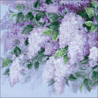 "RIOLIS Counted Cross Stitch Kit 17.75""X17.75""-Lilacs After The Rain (10 Count)"