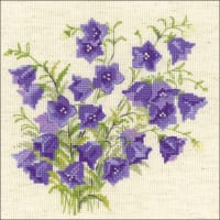 """RIOLIS Counted Cross Stitch Kit 7.75""""X7.75""""-Bellflower (14 Count)"""