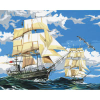 """Paint By Number Kit Artist Canvas Series 11""""X14""""-Sailing Ships"""