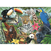 """Paint By Number Kit Artist Canvas Series 11""""X14""""-Zoo Montage"""