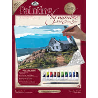 """Paint By Number Kit Artist Canvas Series 11""""X14""""-The Lighthouse"""