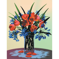 """Paint By Number Kit Artist Canvas Series 9""""X12""""-Floral Still Life"""