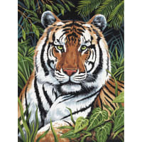 """Paint By Number Kit Artist Canvas Series 9""""X12""""-Tiger In Hiding"""